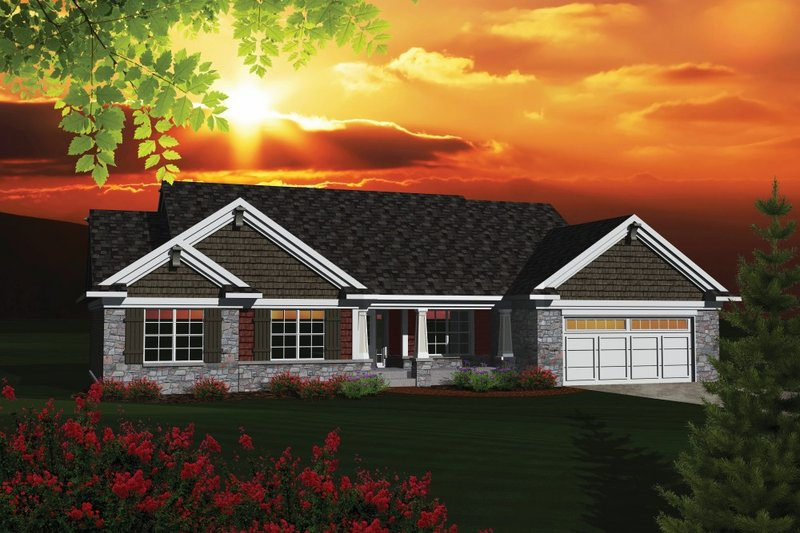 Home Plan - Traditional Exterior - Front Elevation Plan #70-1083