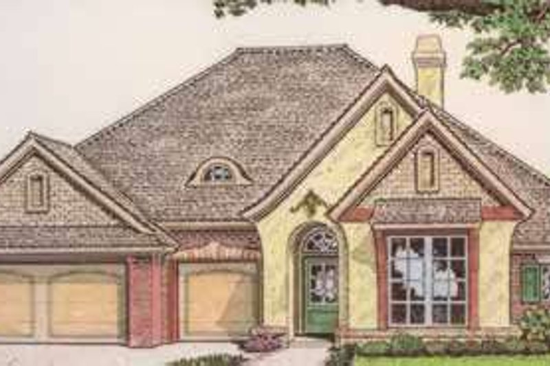 European Style House Plan - 4 Beds 2.5 Baths 2260 Sq/Ft Plan #310-358 Exterior - Front Elevation