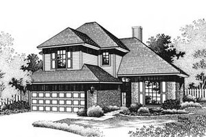 European Exterior - Front Elevation Plan #310-569