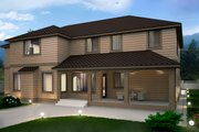 Contemporary Style House Plan - 4 Beds 4.5 Baths 4134 Sq/Ft Plan #1066-16 Exterior - Rear Elevation