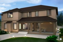 House Design - Contemporary Exterior - Rear Elevation Plan #1066-16