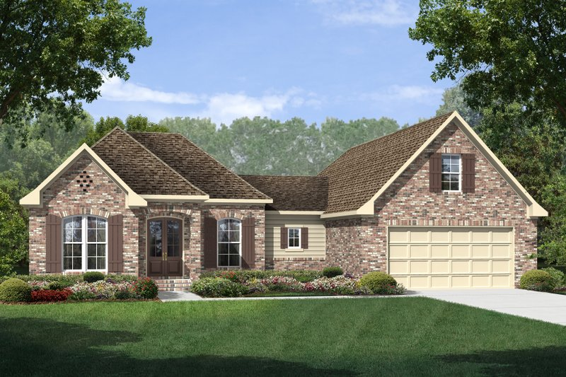 European Exterior - Front Elevation Plan #430-110