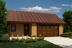 Farmhouse, Garage, Front Elevation,