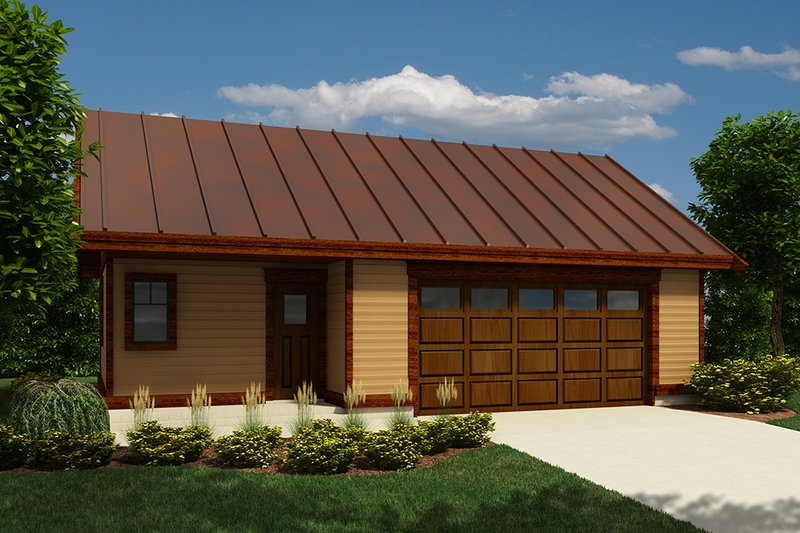 Farmhouse Style House Plan - 0 Beds 1 Baths 816 Sq/Ft Plan #118-136 Exterior - Front Elevation