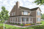 Farmhouse Style House Plan - 4 Beds 2.5 Baths 2284 Sq/Ft Plan #50-282 Exterior - Front Elevation
