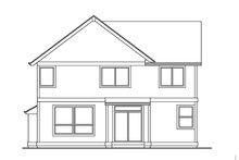 Architectural House Design - Craftsman Exterior - Rear Elevation Plan #53-486
