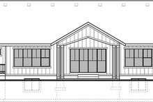 House Plan Design - Craftsman Exterior - Rear Elevation Plan #1073-14