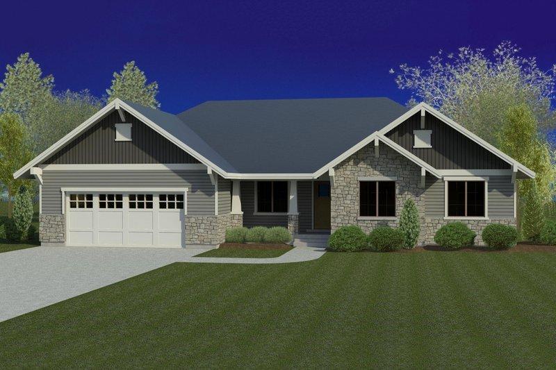 Dream House Plan - Craftsman Exterior - Front Elevation Plan #920-38