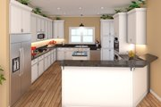 Country Style House Plan - 3 Beds 2.5 Baths 2108 Sq/Ft Plan #21-384 Interior - Kitchen