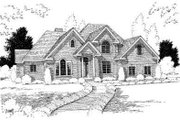 Traditional Style House Plan - 3 Beds 3 Baths 3516 Sq/Ft Plan #75-157 Exterior - Front Elevation