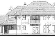 Traditional Style House Plan - 4 Beds 3 Baths 2642 Sq/Ft Plan #18-332 Exterior - Rear Elevation