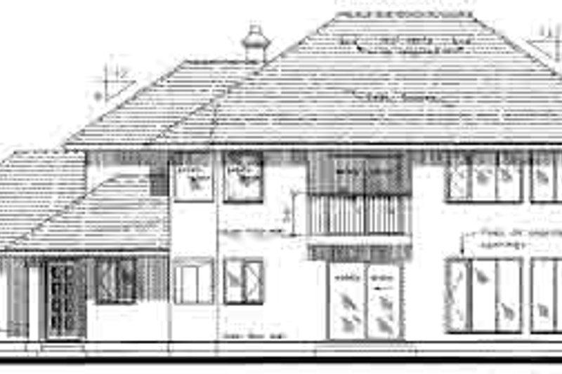 Traditional Exterior - Rear Elevation Plan #18-332 - Houseplans.com