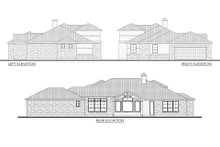 House Plan Design - Mediterranean Exterior - Other Elevation Plan #80-163