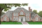 European Style House Plan - 4 Beds 3.5 Baths 4462 Sq/Ft Plan #310-642 Exterior - Front Elevation