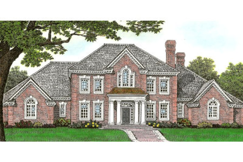 European Exterior - Front Elevation Plan #310-642 - Houseplans.com