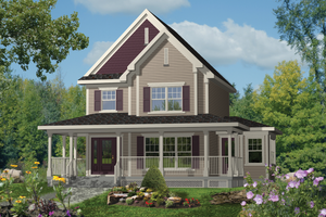 Country Exterior - Front Elevation Plan #25-4494