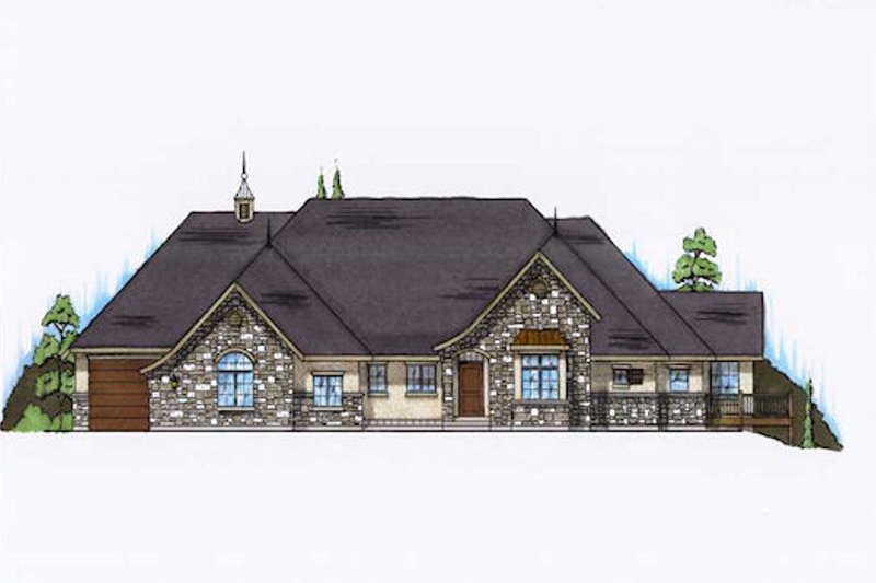 House Plan Design - European Exterior - Front Elevation Plan #5-365