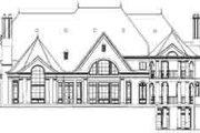 European Style House Plan - 5 Beds 6.5 Baths 8327 Sq/Ft Plan #119-226 Exterior - Rear Elevation