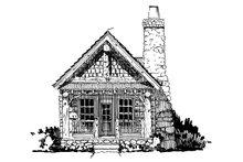 Log Exterior - Front Elevation Plan #942-44
