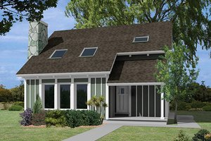 Contemporary Exterior - Front Elevation Plan #57-255