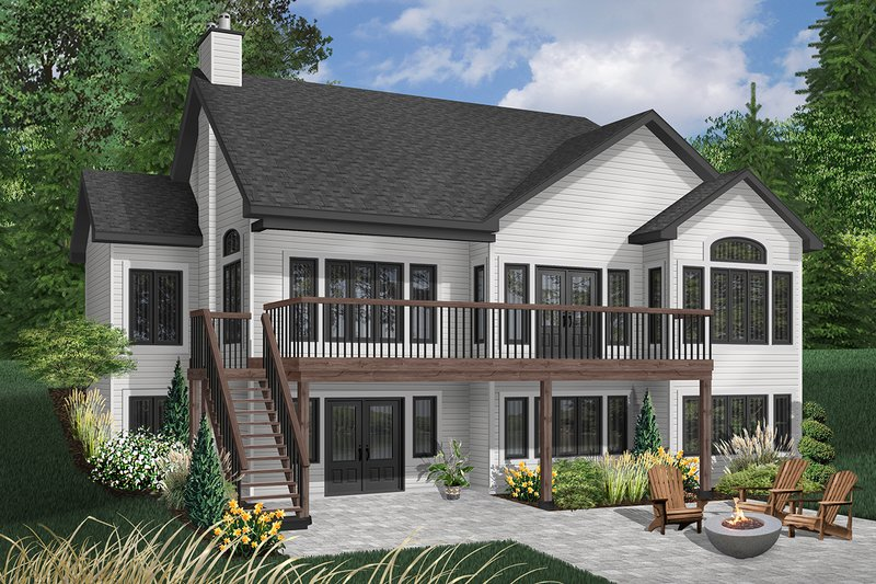 Dream House Plan - Traditional Exterior - Rear Elevation Plan #23-850