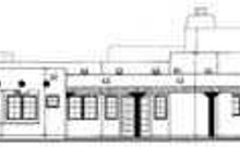 House Blueprint - Adobe / Southwestern Exterior - Rear Elevation Plan #72-187