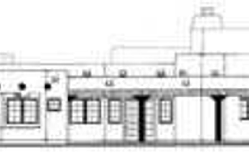 Adobe / Southwestern Exterior - Rear Elevation Plan #72-187 - Houseplans.com