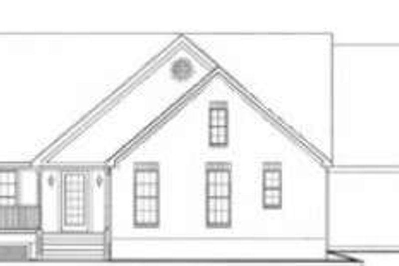 Traditional Exterior - Rear Elevation Plan #406-162 - Houseplans.com