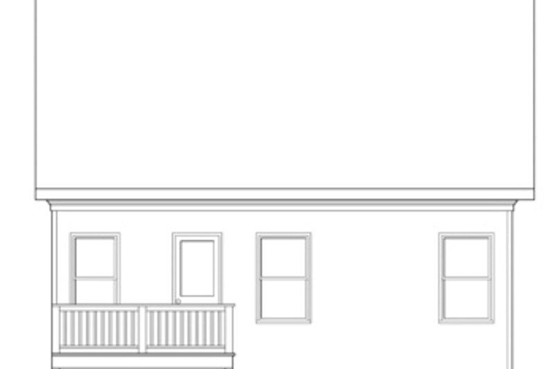 Traditional Exterior - Rear Elevation Plan #419-250 - Houseplans.com
