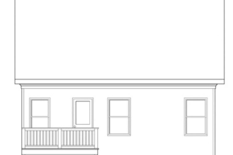 Home Plan - Traditional Exterior - Rear Elevation Plan #419-250