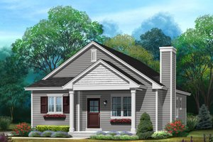 Dream House Plan - Ranch Exterior - Front Elevation Plan #22-614