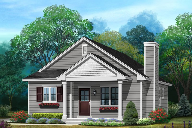 Architectural House Design - Ranch Exterior - Front Elevation Plan #22-614