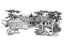 Ranch Exterior - Front Elevation Plan #60-579