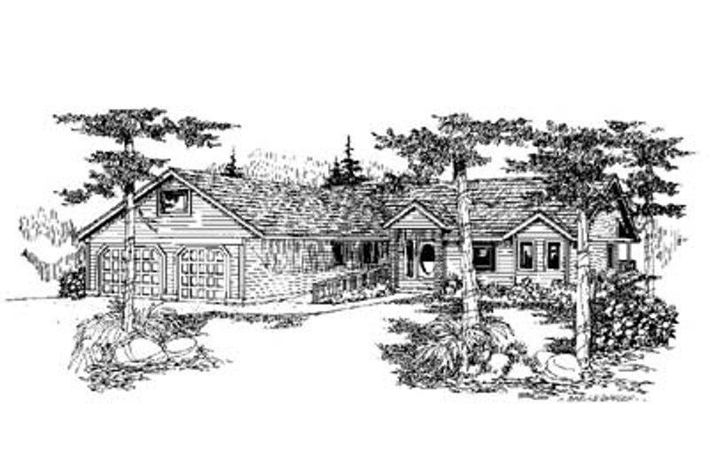 House Design - Ranch Exterior - Front Elevation Plan #60-579