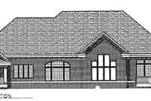 Dream House Plan - Traditional Exterior - Rear Elevation Plan #70-522