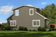 Traditional Style House Plan - 2 Beds 2 Baths 790 Sq/Ft Plan #132-220 Exterior - Rear Elevation