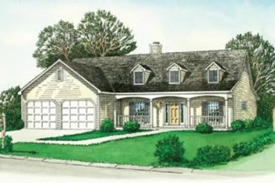 Traditional Exterior - Front Elevation Plan #16-180