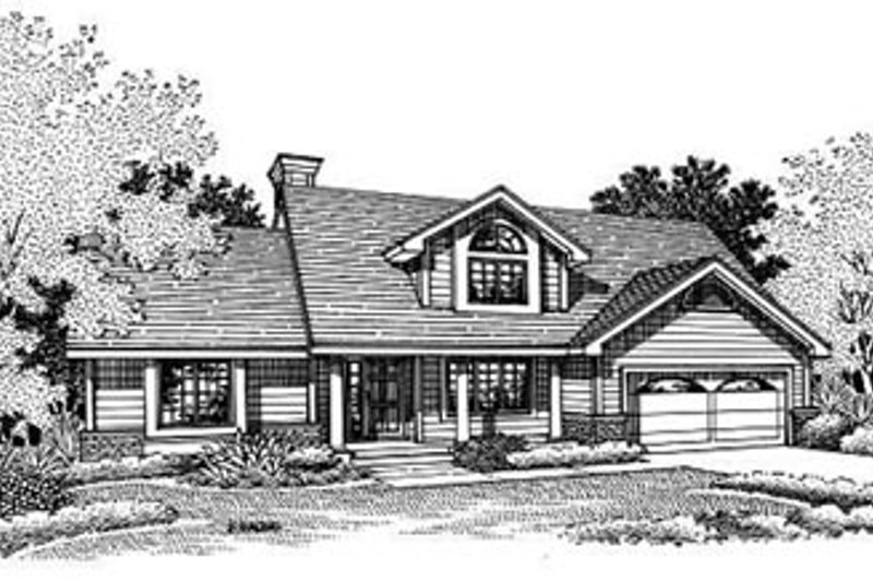 Country Style House Plan - 3 Beds 2.5 Baths 1847 Sq/Ft Plan #50-198 Exterior - Other Elevation