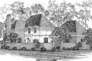 European Exterior - Front Elevation Plan #301-107