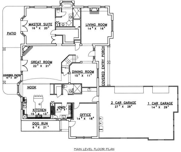 European Floor Plan - Main Floor Plan Plan #117-562