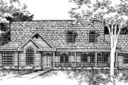 Country Style House Plan - 2 Beds 2 Baths 2323 Sq/Ft Plan #320-424 Exterior - Front Elevation
