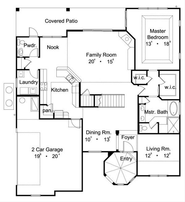 European Floor Plan - Main Floor Plan Plan #417-288