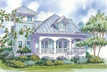 Country Exterior - Rear Elevation Plan #930-62