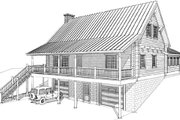 Log Style House Plan - 2 Beds 2 Baths 2112 Sq/Ft Plan #451-5 Exterior - Front Elevation