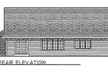 Dream House Plan - Traditional Exterior - Rear Elevation Plan #70-137