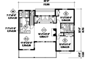 Country Style House Plan - 2 Beds 1 Baths 1133 Sq/Ft Plan #25-4571 Floor Plan - Main Floor Plan