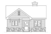 Cottage Style House Plan - 1 Beds 1 Baths 691 Sq/Ft Plan #22-607