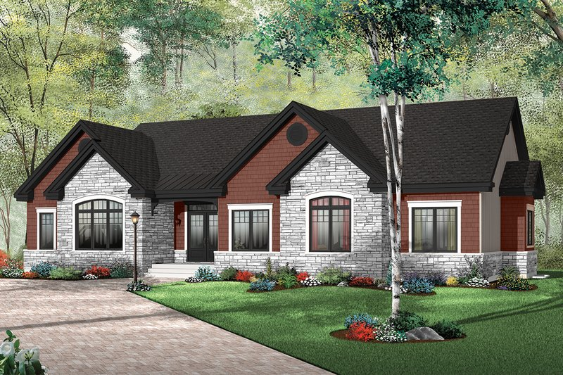 Dream House Plan - Traditional Exterior - Front Elevation Plan #23-787