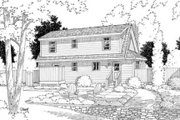 Country Style House Plan - 3 Beds 2.5 Baths 1560 Sq/Ft Plan #312-532 Exterior - Rear Elevation