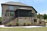 Traditional Style House Plan - 4 Beds 3.5 Baths 2678 Sq/Ft Plan #929-612 Exterior - Rear Elevation